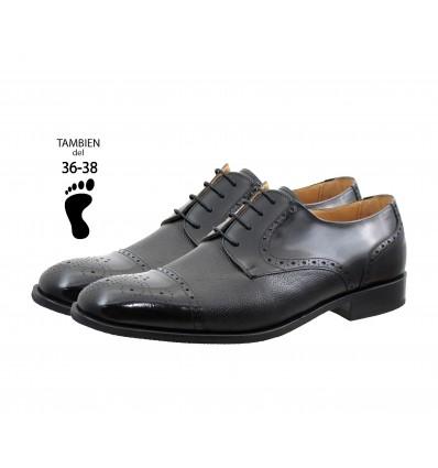 Zapato caballero piel caviar