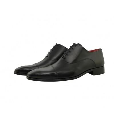 Bloxcalf shoe black leather blucher